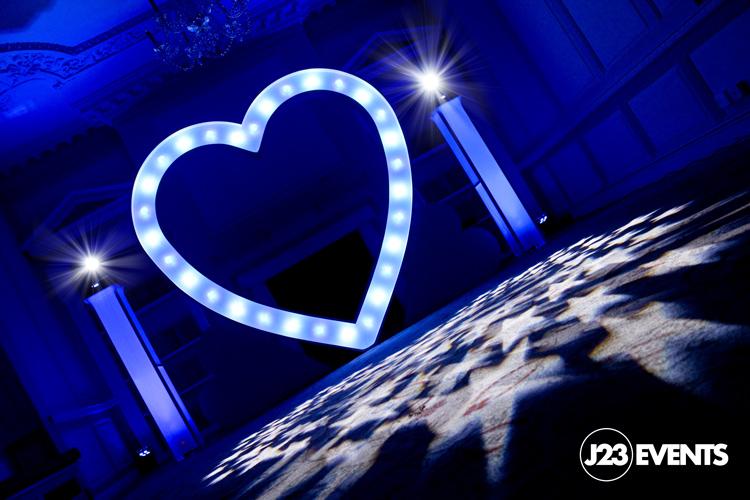 Giant Love heart hire in London