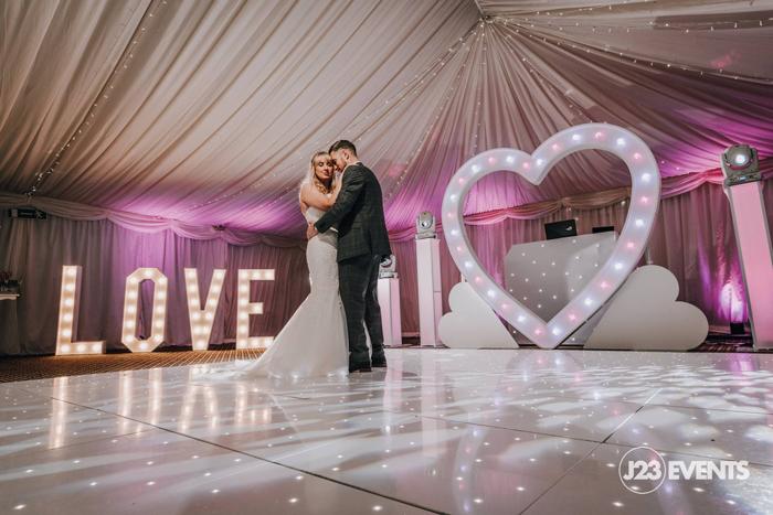 White LED dance floor for Weddings in Berkshire